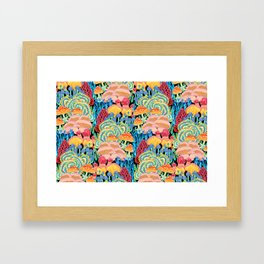 Fungi World (Mushroom world) - BKBG Framed Art Print