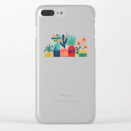 Plant mania Clear iPhone Case