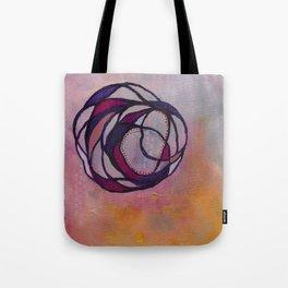 Pink Spiral Tote Bag
