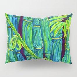 ʻOhe Polū - Blue Bamboo Pillow Sham