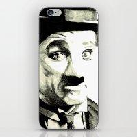 charlie chaplin iPhone & iPod Skins featuring Charlie Chaplin by Lauren Randalls ART