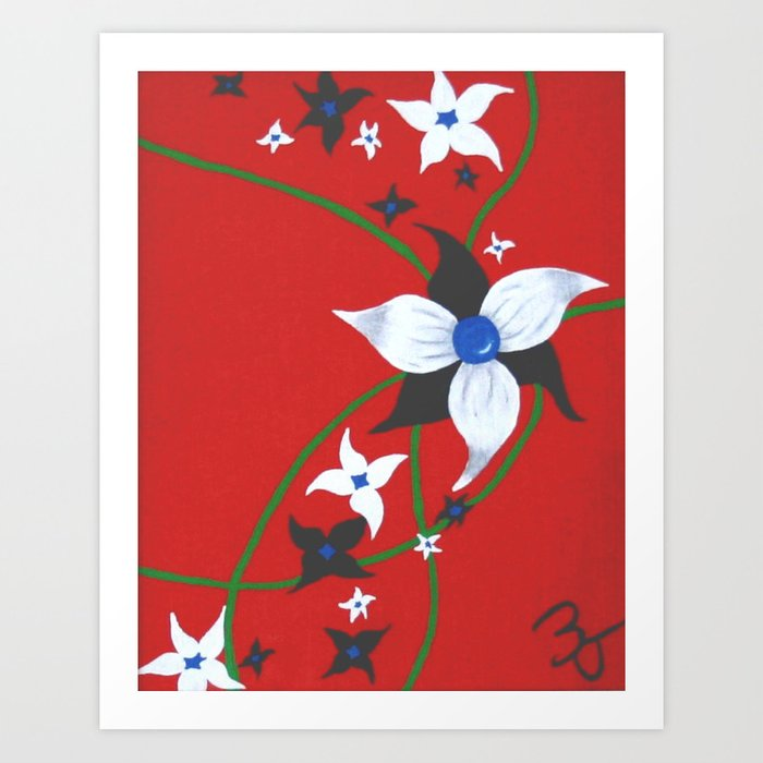 One of Two: Flower Duo Right Art Print