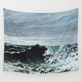 """Gustave Courbet """"The Wave 1871 Scotland"""" Wall Tapestry"""
