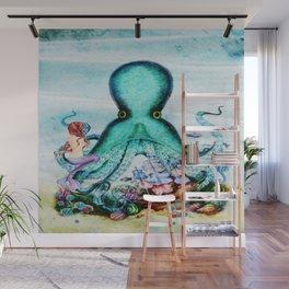 Octopus & Mermaid Wall Mural