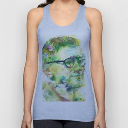 BERTOLT BRECHT - watercolor portrait Unisex Tank Top