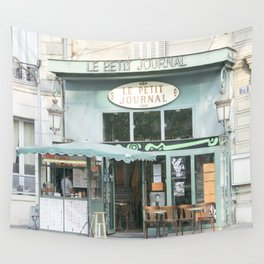 Le Petit Journal: a cafe in Paris Wall Tapestry
