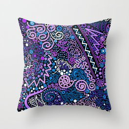Trip the Light Electric Throw Pillow