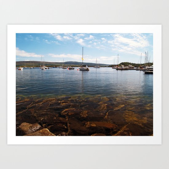 Tobermory Bay Art Print