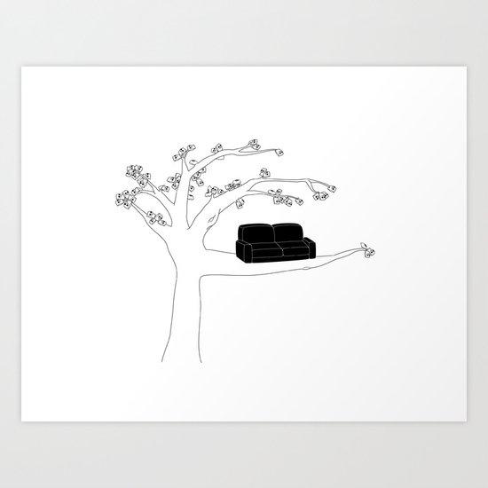 Sitting in a tree Art Print