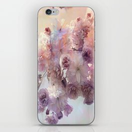 Vintage Beauty, Flower Blossoms iPhone Skin