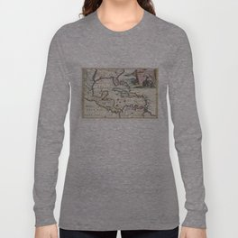 Vintage Map of The Caribbean (1747) Long Sleeve T-shirt