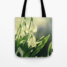 Snowdrops impression from the garden Tote Bag