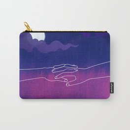 A cosmic connection , two hands reaching out Carry-All Pouch