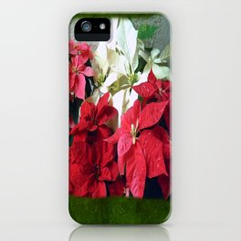 Mixed color Poinsettias 3 Blank P1F0 iPhone Case