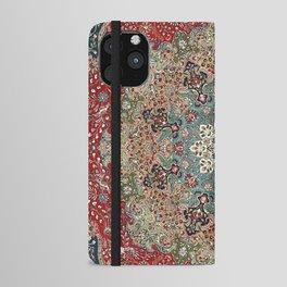 Antique Red Blue Black Persian Carpet Print iPhone Wallet Case