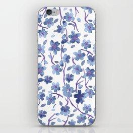 Blue Flowers 4 iPhone Skin