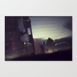 oncoming Canvas Print