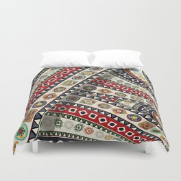 Abstract tribal background Duvet Cover