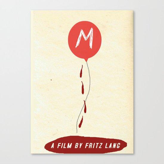 "Fritz Lang's ""M"" Canvas Print"