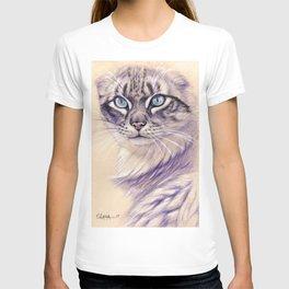 Blue Eyes Cat Glance S005 T-shirt