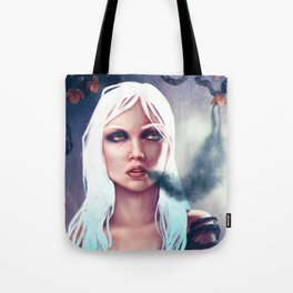Flowers of the night fantasy digital painting Tote Bag