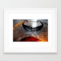 glasses Framed Art Prints featuring glasses by  Agostino Lo Coco