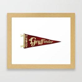 Gryffindor 1948 Vintage Pennant Framed Art Print