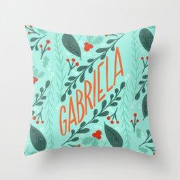 Christmas custom personalized Name - Gabriela by gabba delgado Throw Pillow