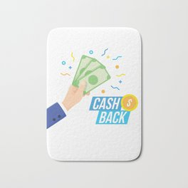 Lets Get Your Cash Back Bath Mat