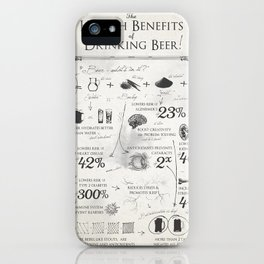 Beer Benefits iPhone Case