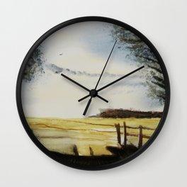 The field of horses Wall Clock