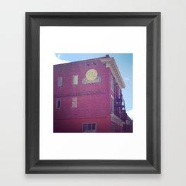 brick bulding  Framed Art Print