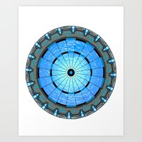 stargate Art Prints featuring Stargate Board by spacemonkey89