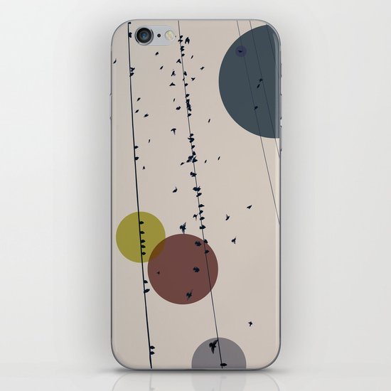 Chaos On The Wires iPhone & iPod Skin