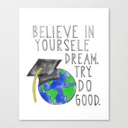 Believe in Yourself - Boy Meets World Graduation Canvas Print