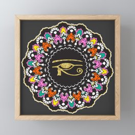 Eye of Horus Mandala Framed Mini Art Print
