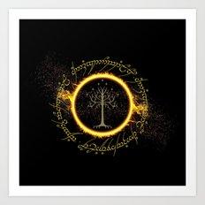 Lord Of The Ring Circle Art Print