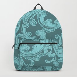 Retro Chic Swirl Island Paradise Backpack