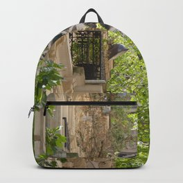 Eiffel tower in the street Backpack