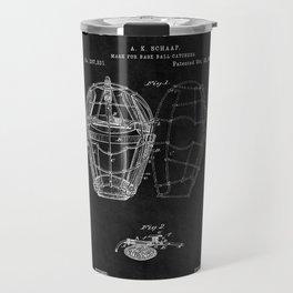 Catchers Mask Patent 2 Travel Mug