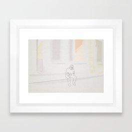 Hopper linea Framed Art Print
