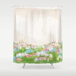 CottageCore Wildflower Landscape Shower Curtain