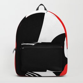 Black and white meets red Version 30 Backpack