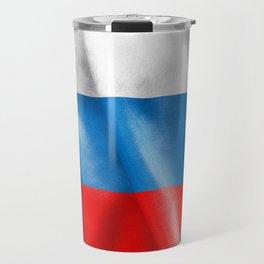 Russian Federation Flag Travel Mug