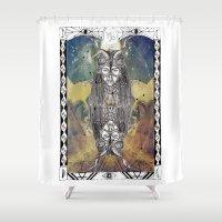 capricorn Shower Curtains featuring Capricorn by Caroline Vitelli GOODIES