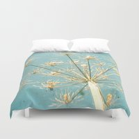 umbrella Duvet Covers featuring Umbrella by Cassia Beck