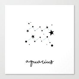 Aquarius - Verseau Canvas Print