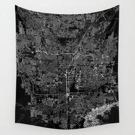 Las Vegas Black Map Wall Tapestry