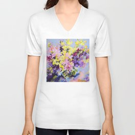 Beautiful Bouquet Unisex V-Neck