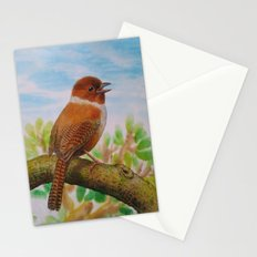 A Brown Bird Stationery Cards
